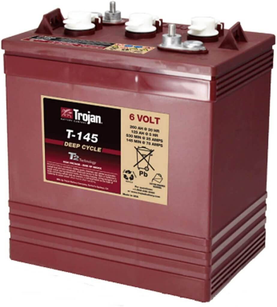 Trojan 6v Golf Cart Battery Fla